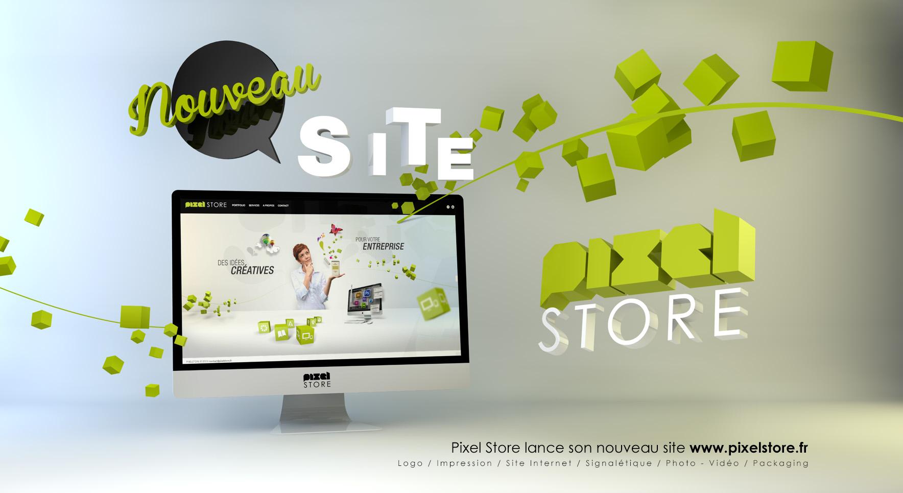 """Nouveau site """"PixelStore"""""""